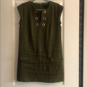 J.Crew Olive Green shift dress